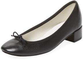 Repetto Women's Camille Ballard Leather Block Heel Pump