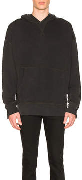 R 13 Two Toned Seamed Hoodie