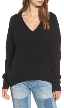 BP Women's V-Neck High/low Sweater