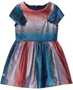 No Added Sugar Pink and Blue Lurex Stripe Dress