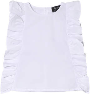 Bardot Junior White Deliah Frill Top