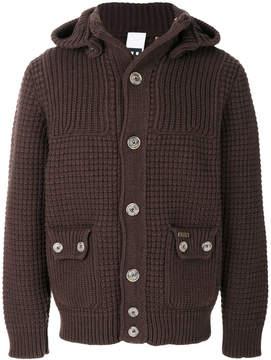 Bark waffle knit cardigan