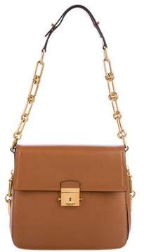 Michael Kors Leather Mia Shoulder Bag - BROWN - STYLE