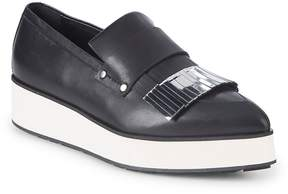 McQ Women's Metallic Leather Platform Loafers