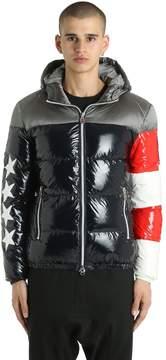 Invicta Usa Flag Glossy Nylon Down Jacket