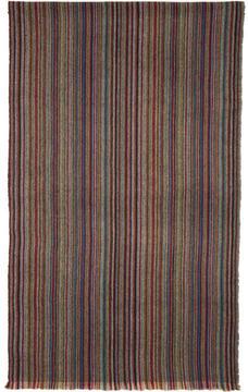 Paul Smith Multicolor Striped Herringbone Scarf