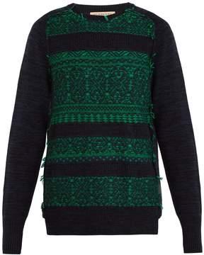 Burberry Reverse-knit wool-blend sweater