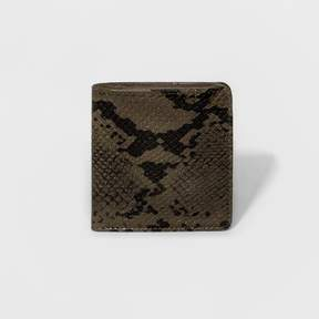 Mossimo Women's Faux Snakeskin Small Snap-Closure Bifold Wallet