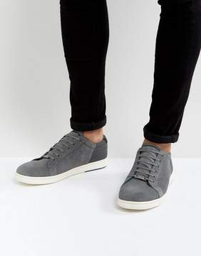 Ted Baker Xiloto Suede Sneakers In Gray