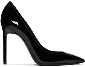 Saint Laurent Black Patent Leather Anja Heels