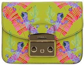 Furla Mini Bag Metropolis Bag Mini Bandoleer In Textured Leather With All Over Gecko Print
