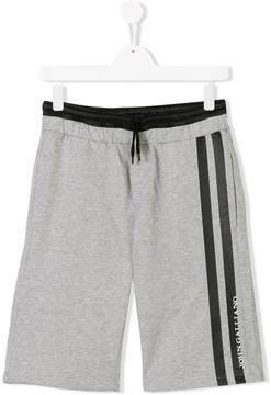 John Galliano Teen logo stripe track shorts