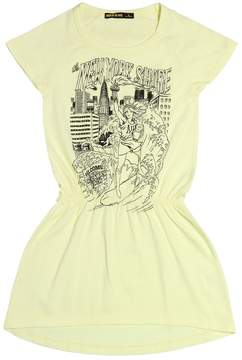 Finger In The Nose New York Printed Cotton Jersey Dress