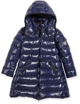Moncler Moka Down Puffer Coat, Dark Blue, Size 8-14