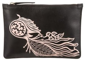 Creatures of the Wind Embroidered Leather Pouch