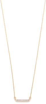 Adina 14k Gold Pave Bar Necklace