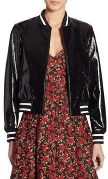 Alice + Olivia Demia Bad Ass Leather Jacket