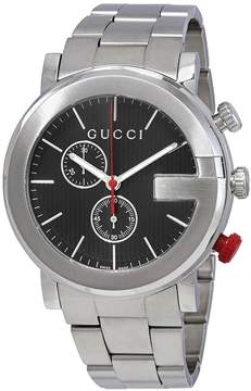 Gucci G Chronograph Black Dial Men's Watch
