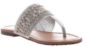 Madeline Women's Blonde Thong Sandal.