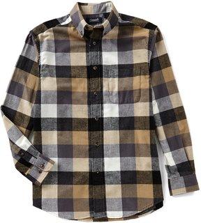 Roundtree & Yorke Casuals Long-Sleeve Large Buffalo Plaid Flannel Sportshirt