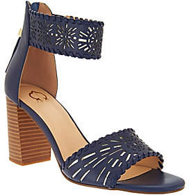 C. Wonder As Is Leather Cutout Sandals w/ Tassels - Katie