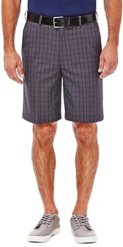 Haggar Big & Tall Classic-Fit Windowpane Expandable Waistband Shorts