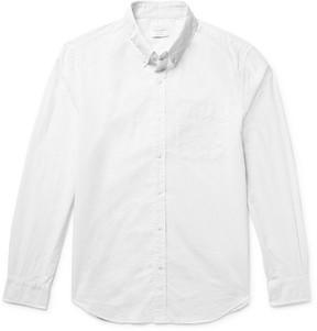 Club Monaco Slim-Fit Button-Down Collar Pin-Dot Cotton Shirt
