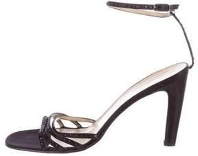 Bottega Veneta Satin Embellished Sandals