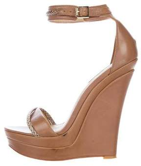 Rachel Zoe Leather Ankle-Strap Wedges