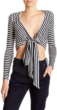 Diesel Juliet Stripe Front Tie Blouse