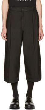 McQ Black Shaped Crop Trousers