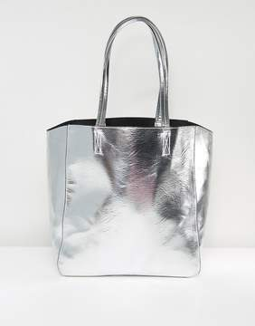Asos Metallic Tote Shopper Bag
