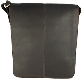David King Leather 145 Small Vertical Messenger Bag