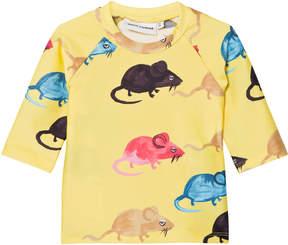Mini Rodini Yellow Mr Mouse UV Top