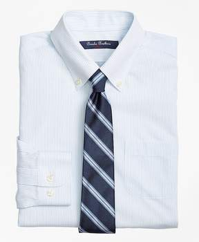 Brooks Brothers Non-Iron Supima® Cotton Broadcloth Mini Stripe Dress Shirt
