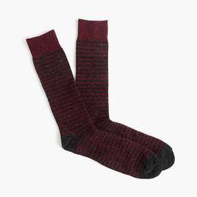 J.Crew Donegal wool-blend socks in burgundy