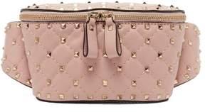 Valentino Rockstud Spike Quilted Leather Belt Bag - Womens - Light Pink