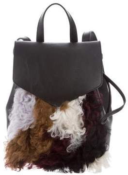 Loeffler Randall Shearling & Leather Backpack