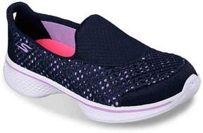 Skechers Go Walk 4 Kindle Toddler & Youth Slip-On Sneaker - Girl's
