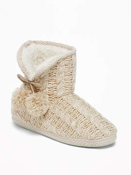 Old Navy Cable-Knit Slipper Booties for Women