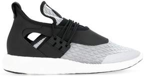 Y-3 contrast lace up sneakers