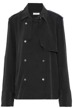 Equipment Nikola Double-Breasted Washed-Silk Jacket