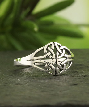 Celtic Sterling Silver Interwoven Knot Ring