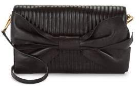 Donna Karan Quilted Leather Flap Clutch