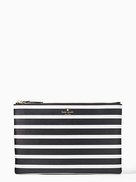 Kate Spade Hyde lane stripe large mila - BLACK/CREAM - STYLE