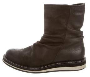 John Varvatos Leather Slouch Boots