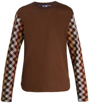 Junya Watanabe X Carhartt diamond-jacquard long-sleeved T-shirt