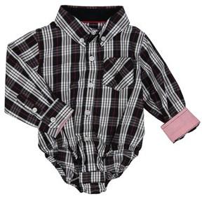 Andy & Evan Infant Boy's Shirtzie Holiday Check Bodysuit