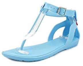 Hunter Womens Org T Open Toe Casual T-strap Sandals.