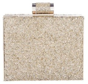 Halston Glitter Box Clutch